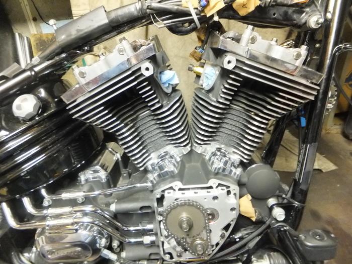 ツインカム107B エンジン組立 完成_c0226202_633368.jpg