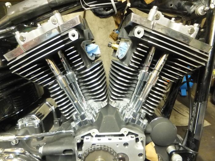 ツインカム107B エンジン組立 完成_c0226202_638262.jpg