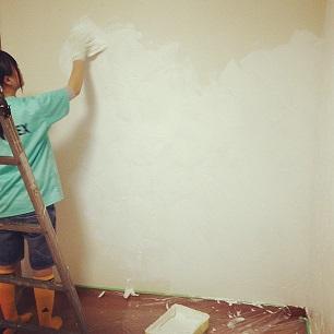 子供部屋の大改造♪ 漆喰壁つくり&ロフトベッド_f0023333_2256413.jpg