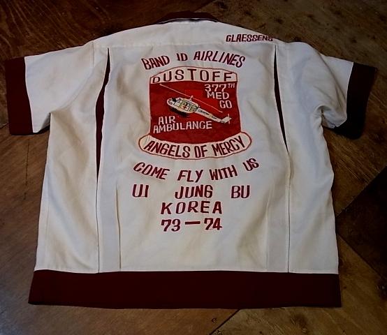 GW入荷!第三弾!5/3(金)入荷!70'S ミリタリーEmbroidered bowling shirts!_c0144020_17264264.jpg