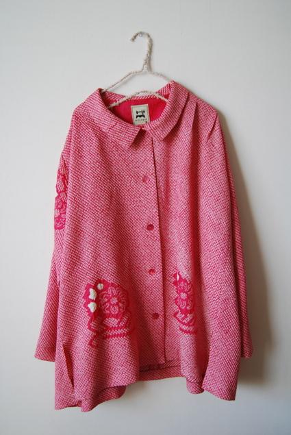 着物リメイク・絞り羽織のジャケット&ブラウス_d0127925_1710433.jpg