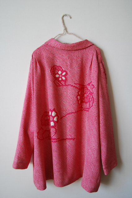 着物リメイク・絞り羽織のジャケット&ブラウス_d0127925_1793999.jpg