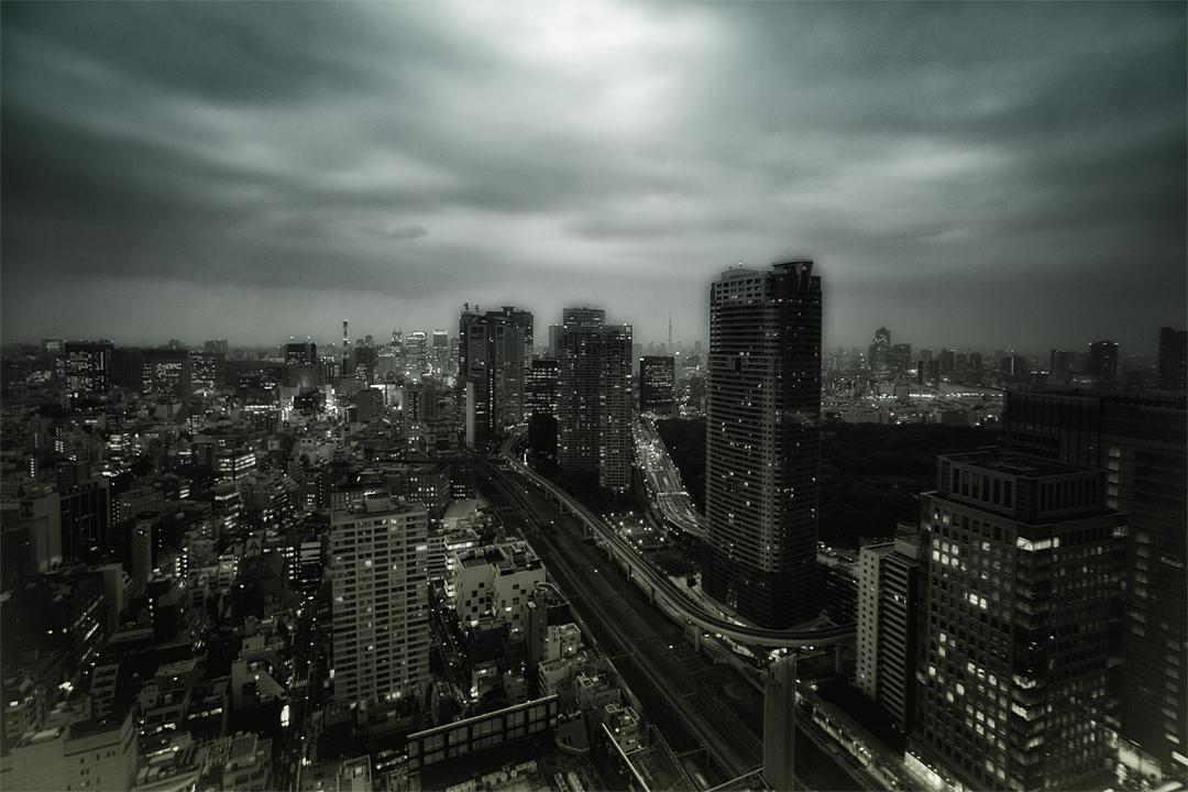 都会の街並み。