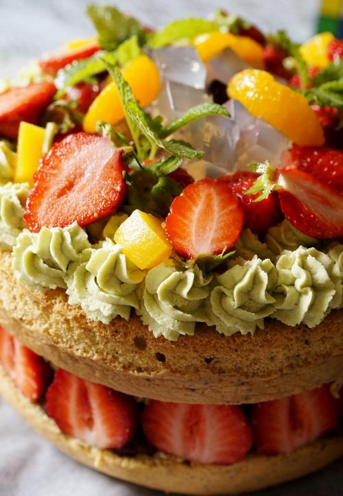 【苺とみつ豆の和風ショートケーキ】長女の誕生日に次女が作りました^^_b0033423_21432862.jpg
