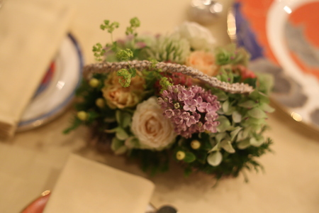シェ松尾青山サロン様の装花 森のように、ティモテのCMのように_a0042928_9403748.jpg