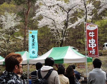 5/4~5/5満開の桜の下、「龍泉洞まつり」に出店_b0206037_16341311.jpg