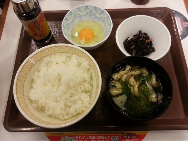 たまごかけごはん朝食¥200@すき家_b0042308_22533094.jpg