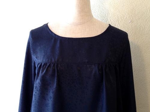 紺シルクのツーピース (フルオーダー)_b0199696_17221734.jpg