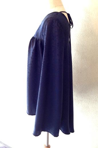 紺シルクのツーピース (フルオーダー)_b0199696_17241542.jpg