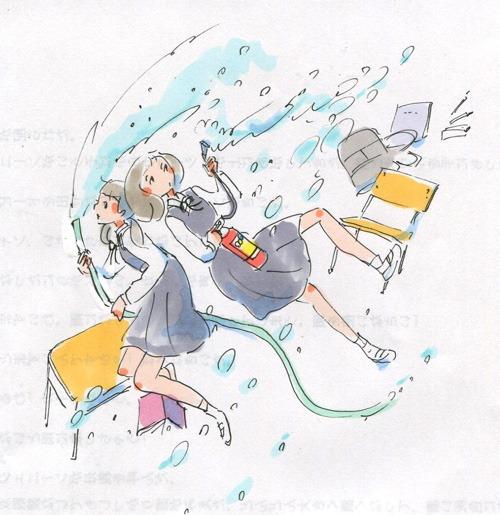 女子中学生が学校を水浸しにしたり消火器をまいたり_a0026616_222916100.jpg