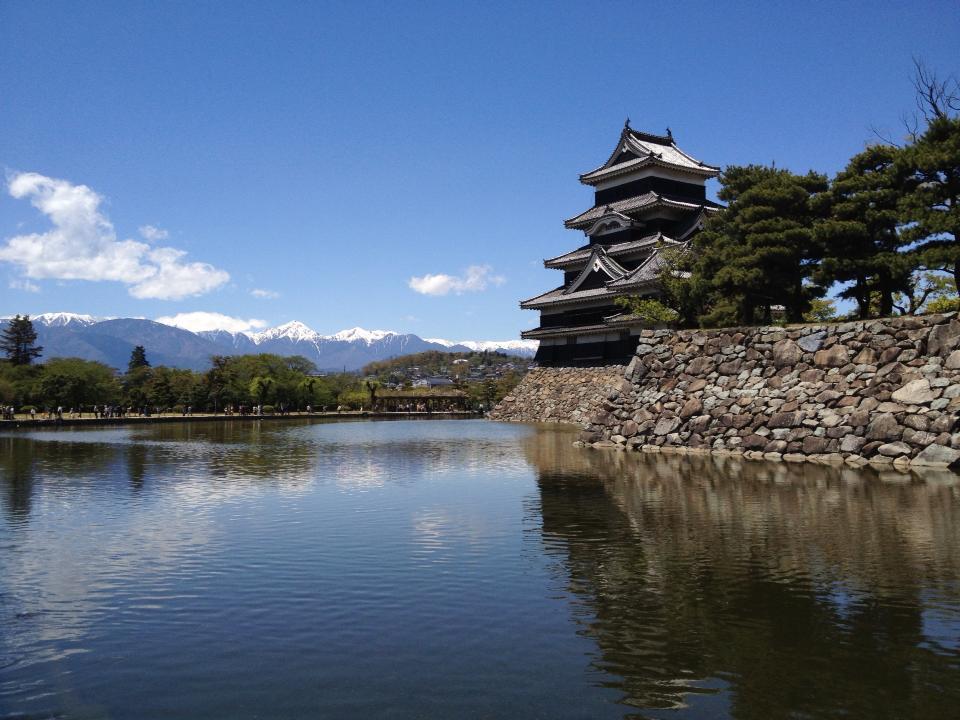 松本城と北アルプス_d0166534_840737.jpg