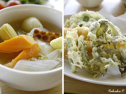 旬の有機野菜をたっぷり使ったお料理♪_c0070460_21254614.jpg