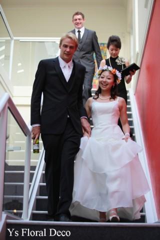 プルメリアの花冠 オーストラリアの新婦さんへ_b0113510_1055301.jpg
