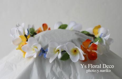 プルメリアの花冠 オーストラリアの新婦さんへ_b0113510_10555955.jpg