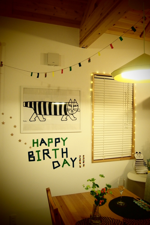 「HAPPY BIRTH DAY」もマステアートでおしゃれに!