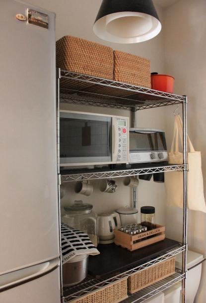 無印でつくるキッチン収納。