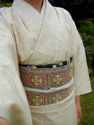 単衣きものに木綿の帯_a0236300_17545810.jpg