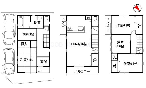 平成22年建築の4SLDK!駐車スペース2台可能!角地物件!_e0251265_1617319.png