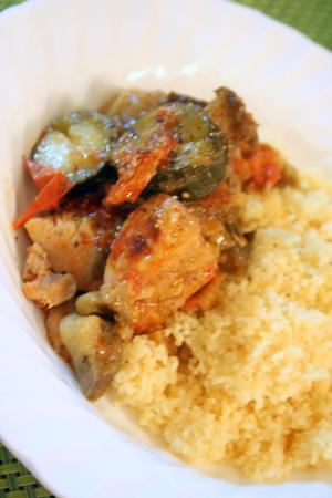 夏野菜と鶏肉の塩麹蒸し クスクス添え_f0141419_823429.jpg