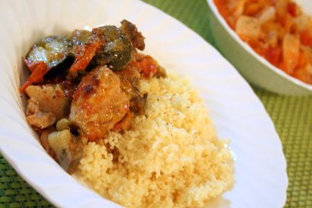 夏野菜と鶏肉の塩麹蒸し クスクス添え_f0141419_82840.jpg