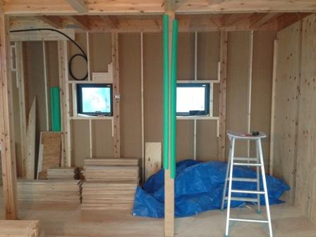 「緑豊かな高台に建つ二世帯住宅」ちょっとワイルドな風合いのフローリング_f0170331_14545934.jpg