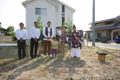 太田市木崎町  O田様  地鎮祭おめでとうございました。。_a0084859_928851.jpg