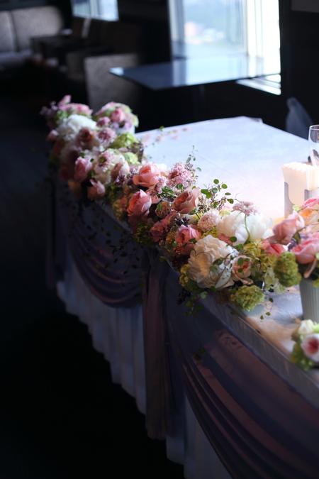 初夏の装花 ひとつの夢 新宿スカイギルド様へ_a0042928_22115093.jpg