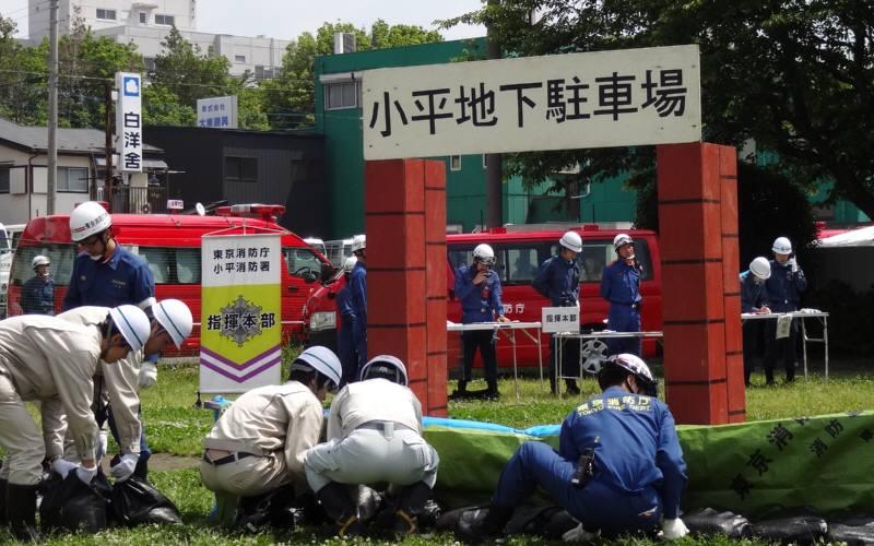 小平市総合水防訓練_f0059673_2131257.jpg