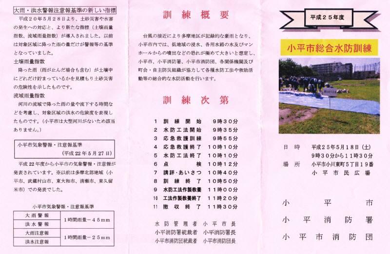 小平市総合水防訓練_f0059673_21321220.jpg