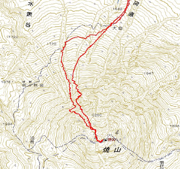 焼山2400m(少し写真追加)_e0064783_13102538.jpg