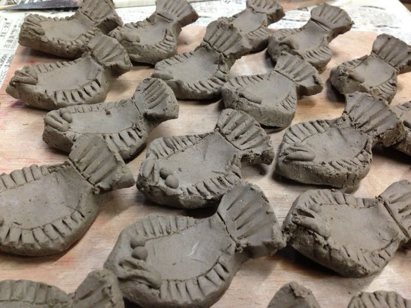 久しぶりの陶芸で皿と箸置き作りました\(^o^)/_c0110051_234012.jpg