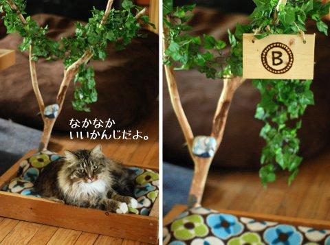 Tree Houseをイメージした、猫のベット_b0253205_1205840.jpg