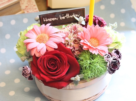 お花のBirthdayケーキ_d0227610_15441549.jpg