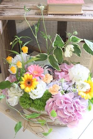 お花のBirthdayケーキ_d0227610_15451119.jpg