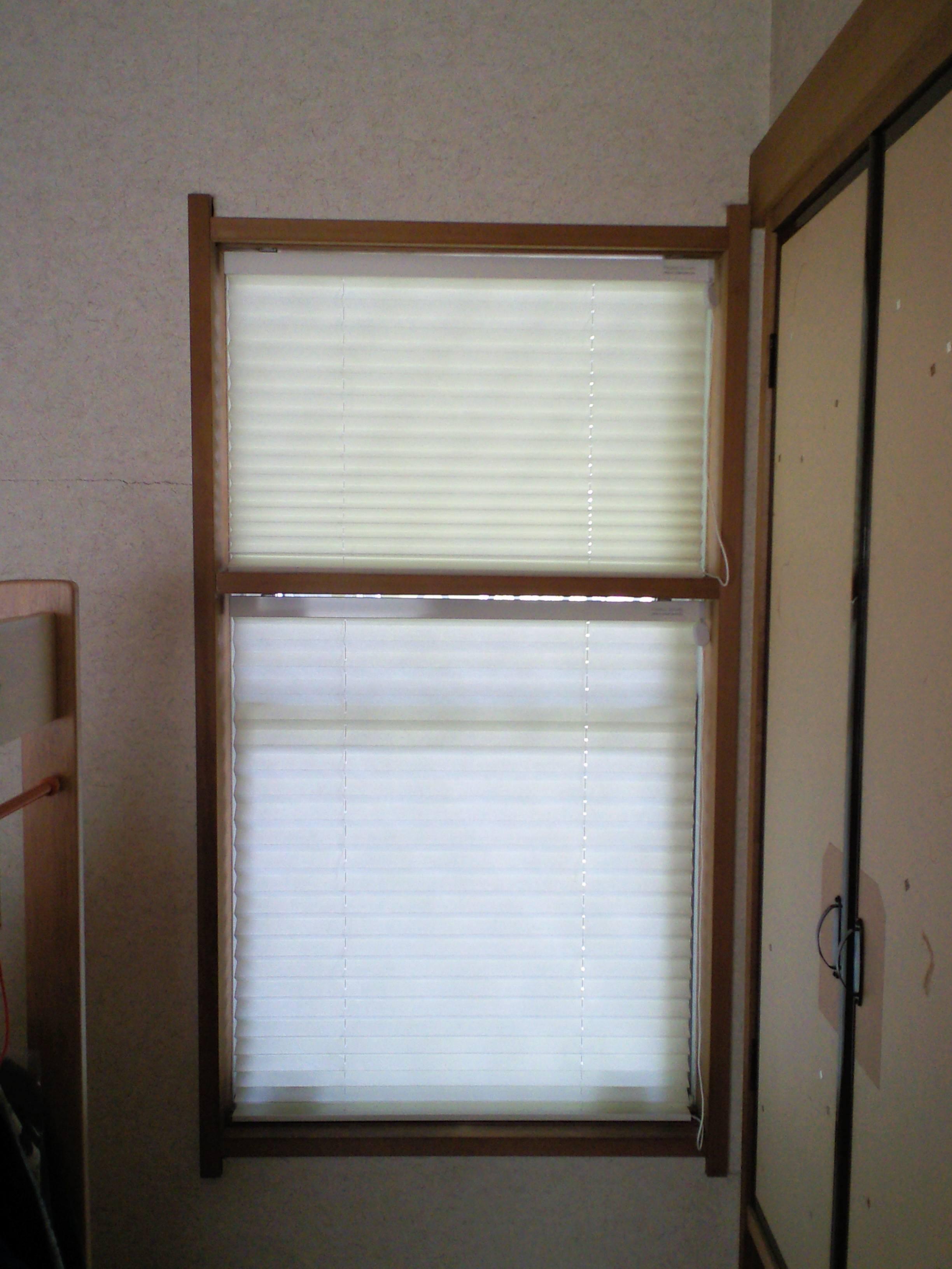 和室の窓に、和紙のプリーツスクリーンをお取り付け。_c0157866_21101486.jpg