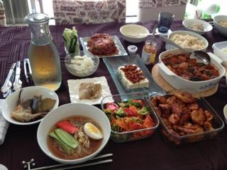 エスニック料理の会と主人の週末カレー_b0254207_2130495.jpg
