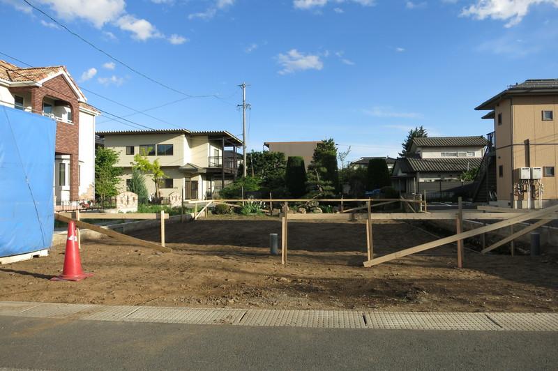 「繭玉の家」(塩尻市)丁張り_c0116631_09572.jpg