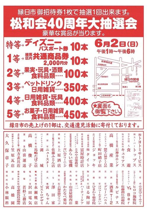 上石神井・東通り商店街「縁日市」招待券を差し上げます_a0121669_14582486.jpg