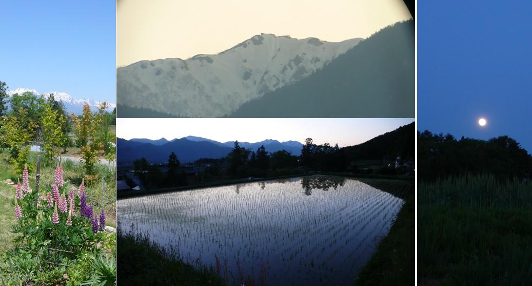 山小屋と月と空_a0212730_21325513.jpg