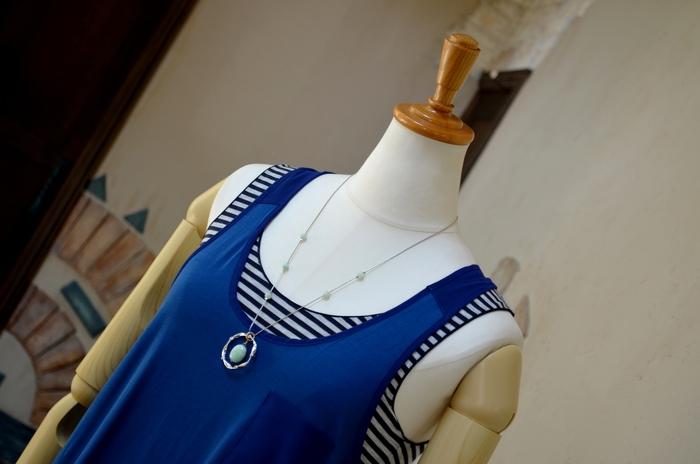 """""""人気インナーをレイヤードにシャーリングシャツを羽織る大人マキシワンピ""""_d0153941_11553814.jpg"""