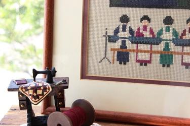 キルトがテーマの刺繍フレーム、集めました_f0161543_15235051.jpg