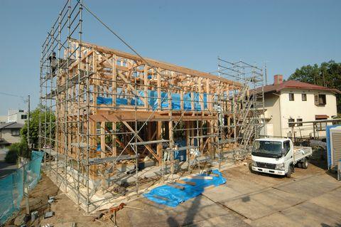 土浦のOMの家、上棟しました!_a0059217_8323719.jpg