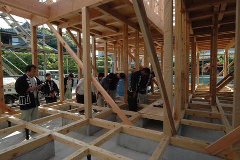 土浦のOMの家、上棟しました!_a0059217_8325016.jpg