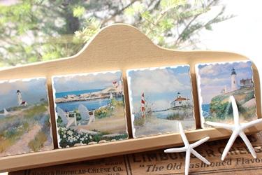 海辺の景色のストーンコースタ-_f0161543_16282059.jpg
