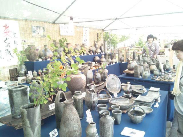 今、越前陶芸祭りに来ています。_e0119092_12423657.jpg