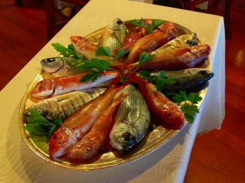 欧州出張2013年05月-第五日目-ジェノヴァの素敵なレストランで美味しい魚のグリル_c0153302_14492189.jpg