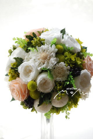 6月の花嫁さまブーケ_a0136507_11111640.jpg
