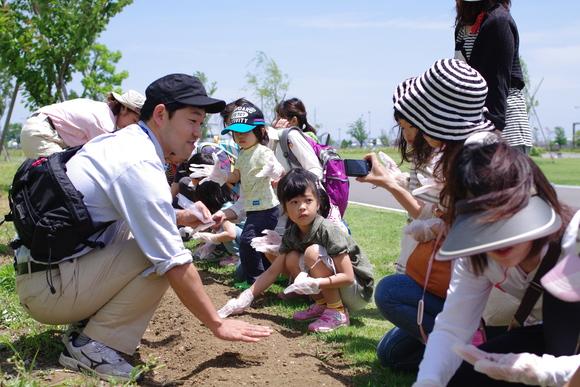 咲かせよう!はるかのひまわり絆プロジェクト開催しました!_e0235911_1540363.jpg