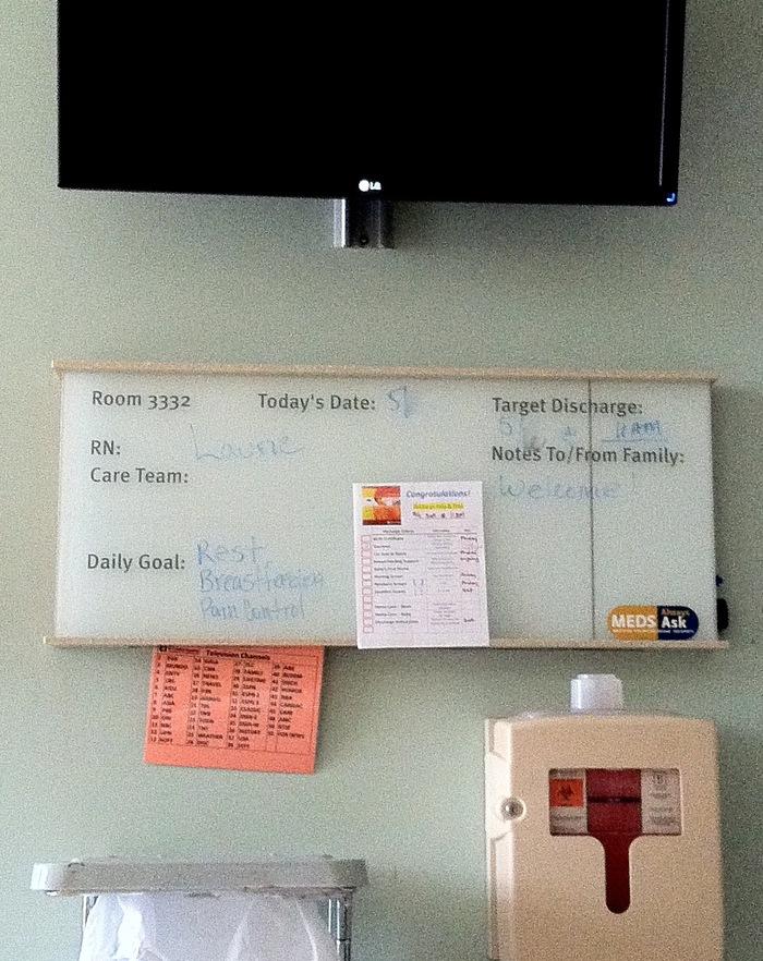 アメリカで出産-4 病院食と病室の様子_f0231414_8304869.jpg