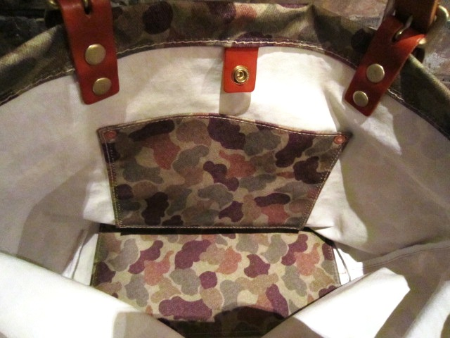 "SLOW ""KONBU TOTE BAG\"" DUCK CAMO ご紹介_f0191324_10135866.jpg"